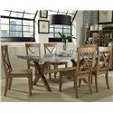 Liberty Furniture Keaton 7 Piece Trestle Table Set  - Item Number: 119-CD-SET36