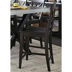 Liberty Furniture Keaton II X Back Counter Chair