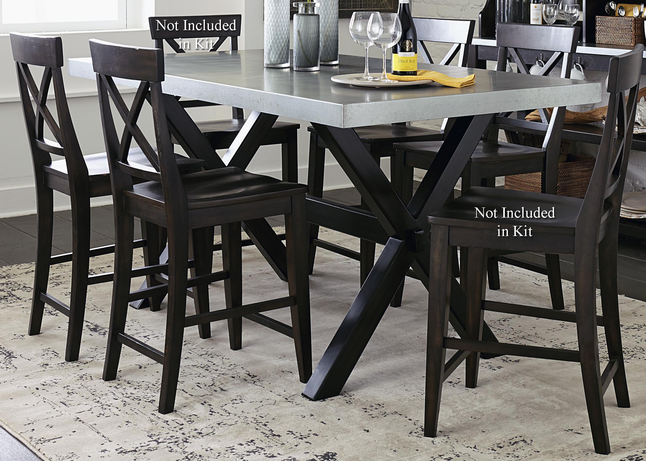 Liberty Furniture Keaton II 5 Piece Gathering Table Set  - Item Number: 219-CD-5GTS