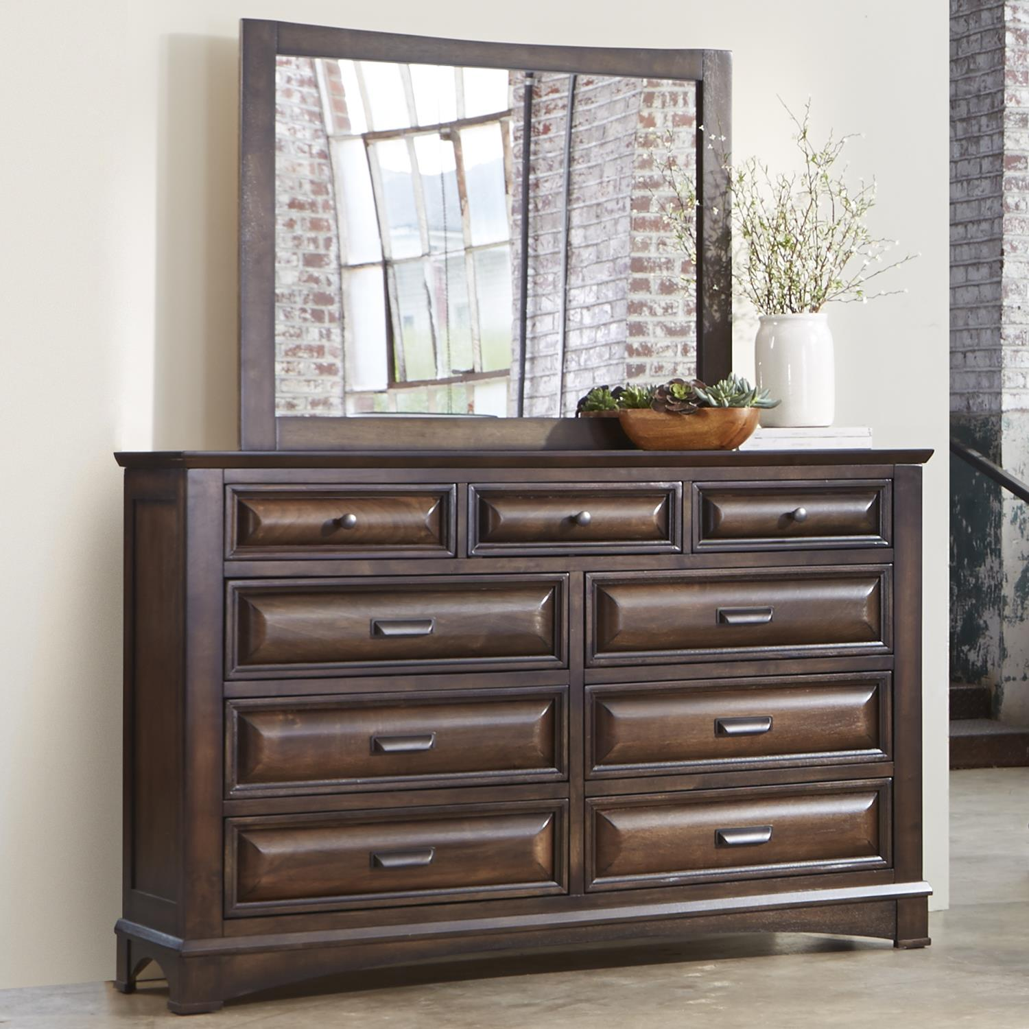 Liberty Furniture Knollwood Dresser and Mirror - Item Number: 258-BR-DM