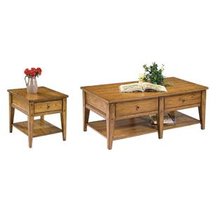 Vendor 5349 Lake House 3 Piece Occasional Table Set