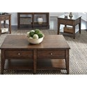 Liberty Furniture Lake House 3 Piece Occasional Table Set - Item Number: 210-OT-3PCS