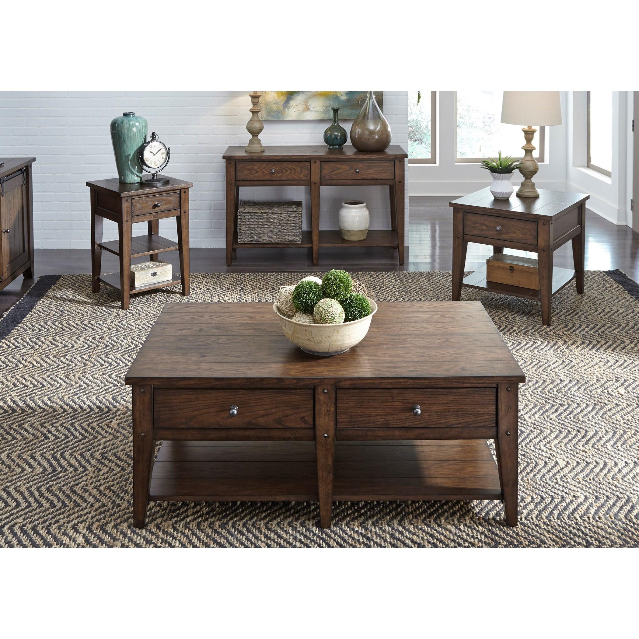 Liberty Furniture Lake House 2-Drawer Cocktail Table