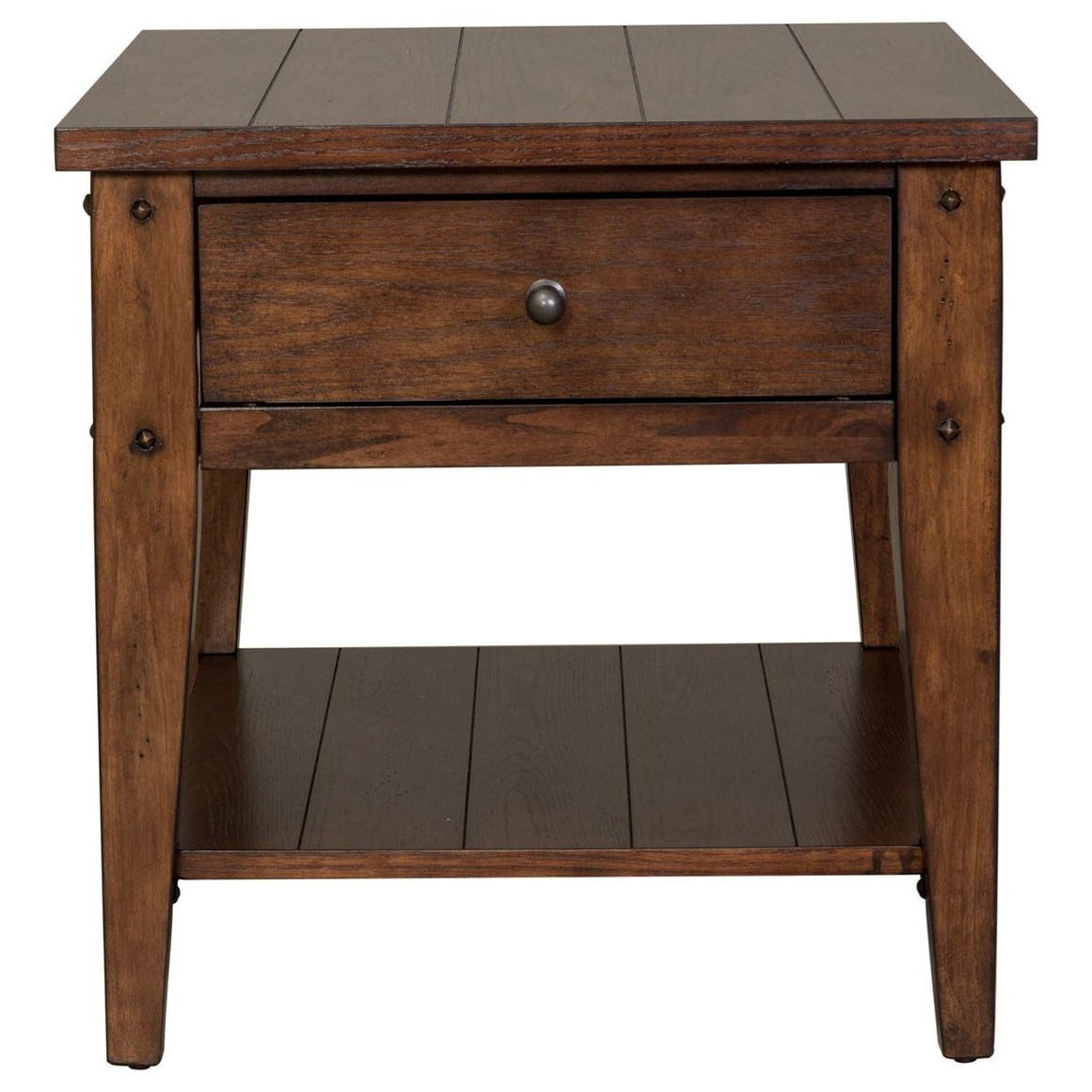 Liberty Furniture Lake House 1 Drawer End Table Furniture And Appliancemart End Tables
