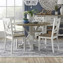 Liberty Furniture Lakeshore 5-Piece Table and Chair Set - Item Number: 519-CD-5ROS