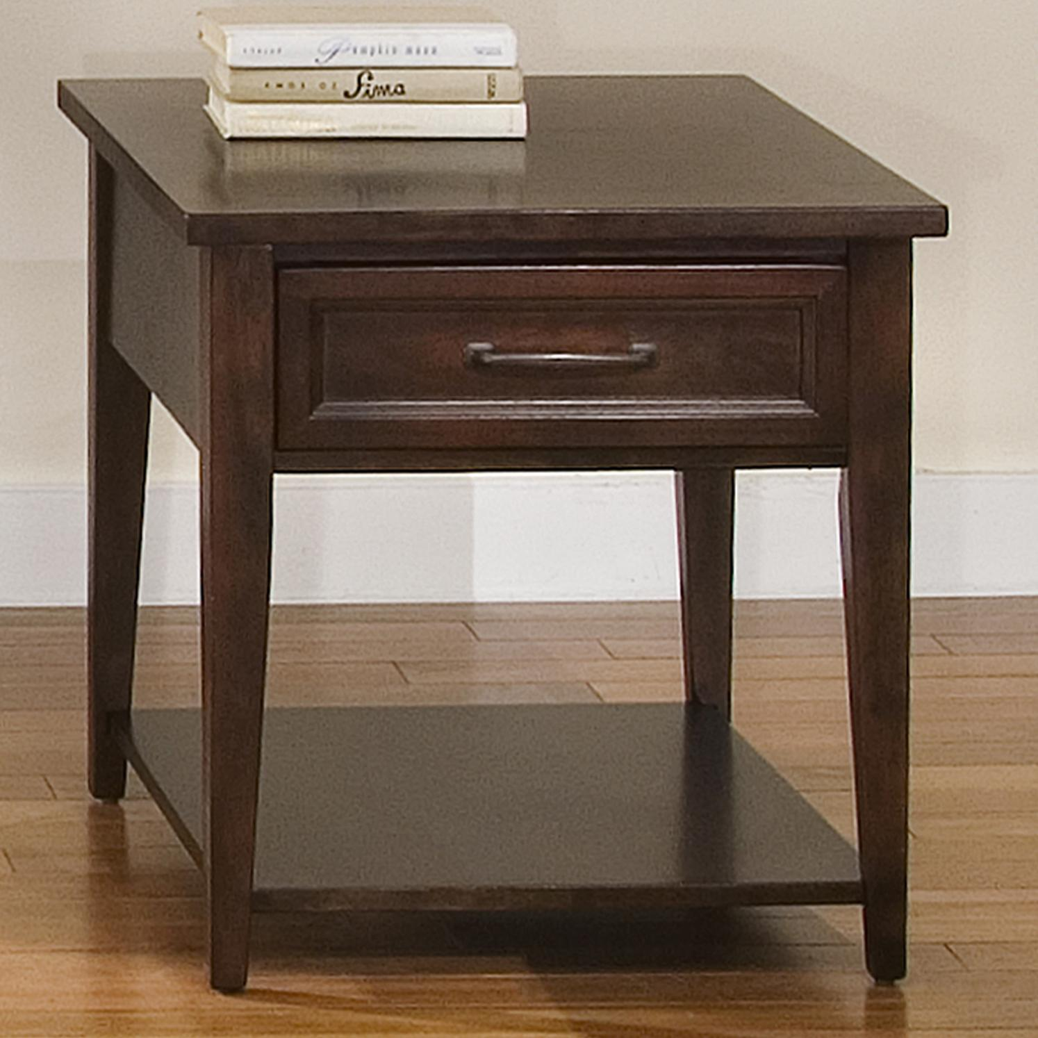 Liberty Furniture Lakewood Rectangular End Table - Item Number: 481-OT1020