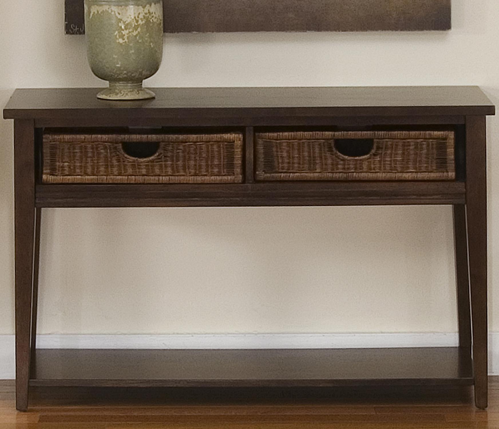 Liberty Furniture Lakewood Basket Sofa Table - Item Number: 481-OT1030
