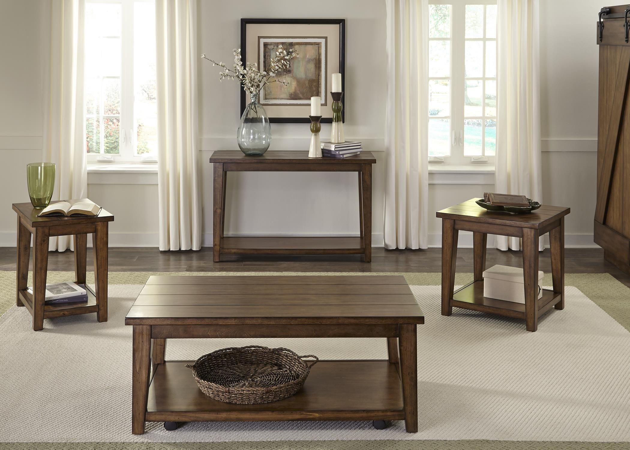 Liberty Furniture Lancaster Rustic Occasional Table Group - Item Number: 712-OT Occasional Table Group