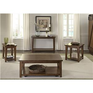Vendor 5349 Lancaster Rustic Occasional Table Group
