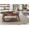 Vendor 5349 Landon Occasional Oval Cocktail Table with Casters