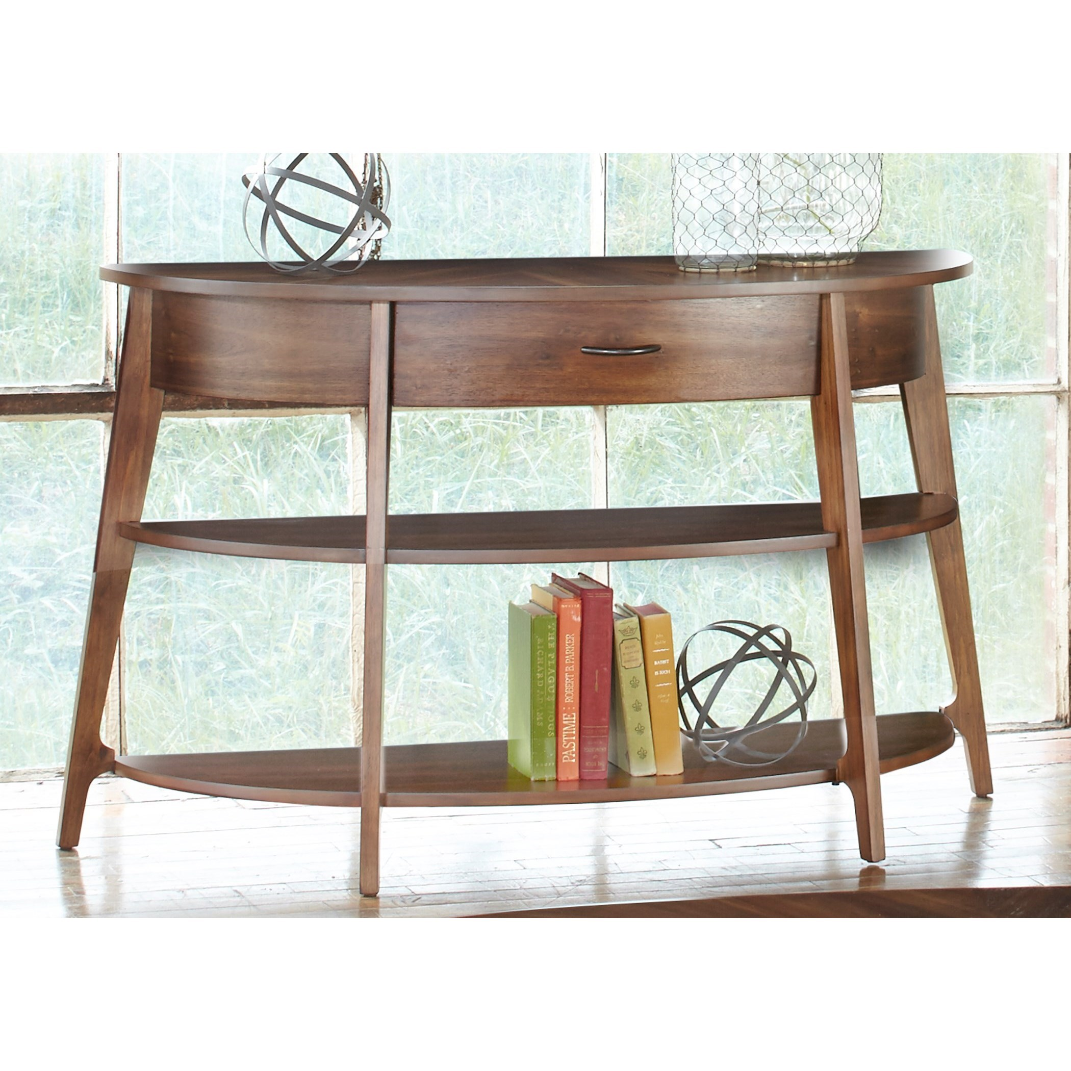 Liberty Furniture Landon Occasional Demi-Lune Sofa Table - Item Number: 72-OT1030