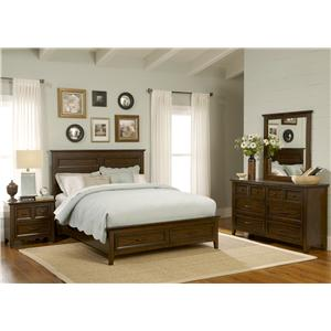 4PC Queen Storage Bedroom Set