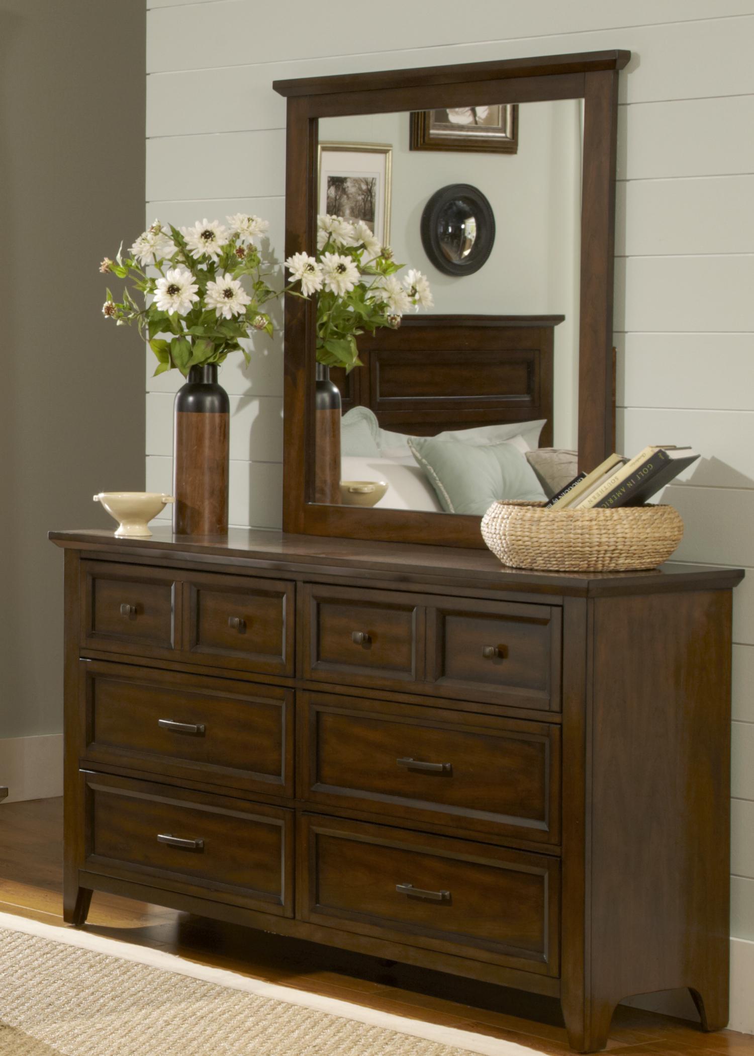 Liberty Furniture Laurel Creek Dresser & Mirror  - Item Number: 461-BR-SET50