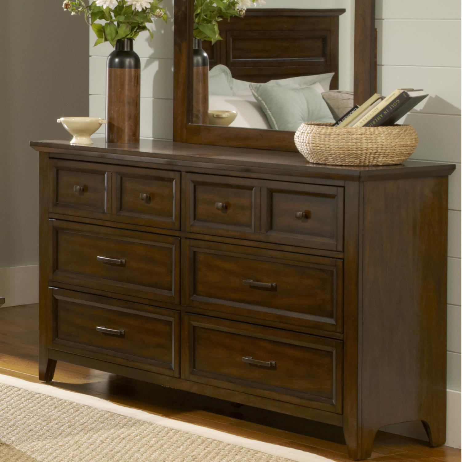 Liberty Furniture Laurel Creek 6-Drawer Dresser - Item Number: 461-BR31