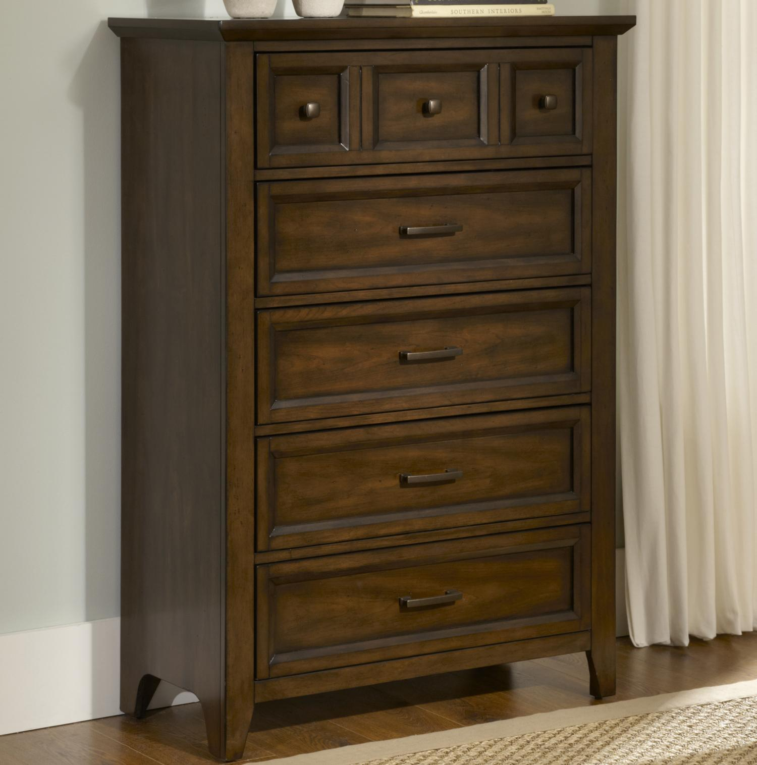 Liberty Furniture Laurel Creek 5-Drawer Chest - Item Number: 461-BR41