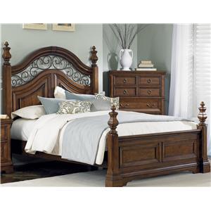 Liberty Furniture Laurelwood Queen Poster Bed