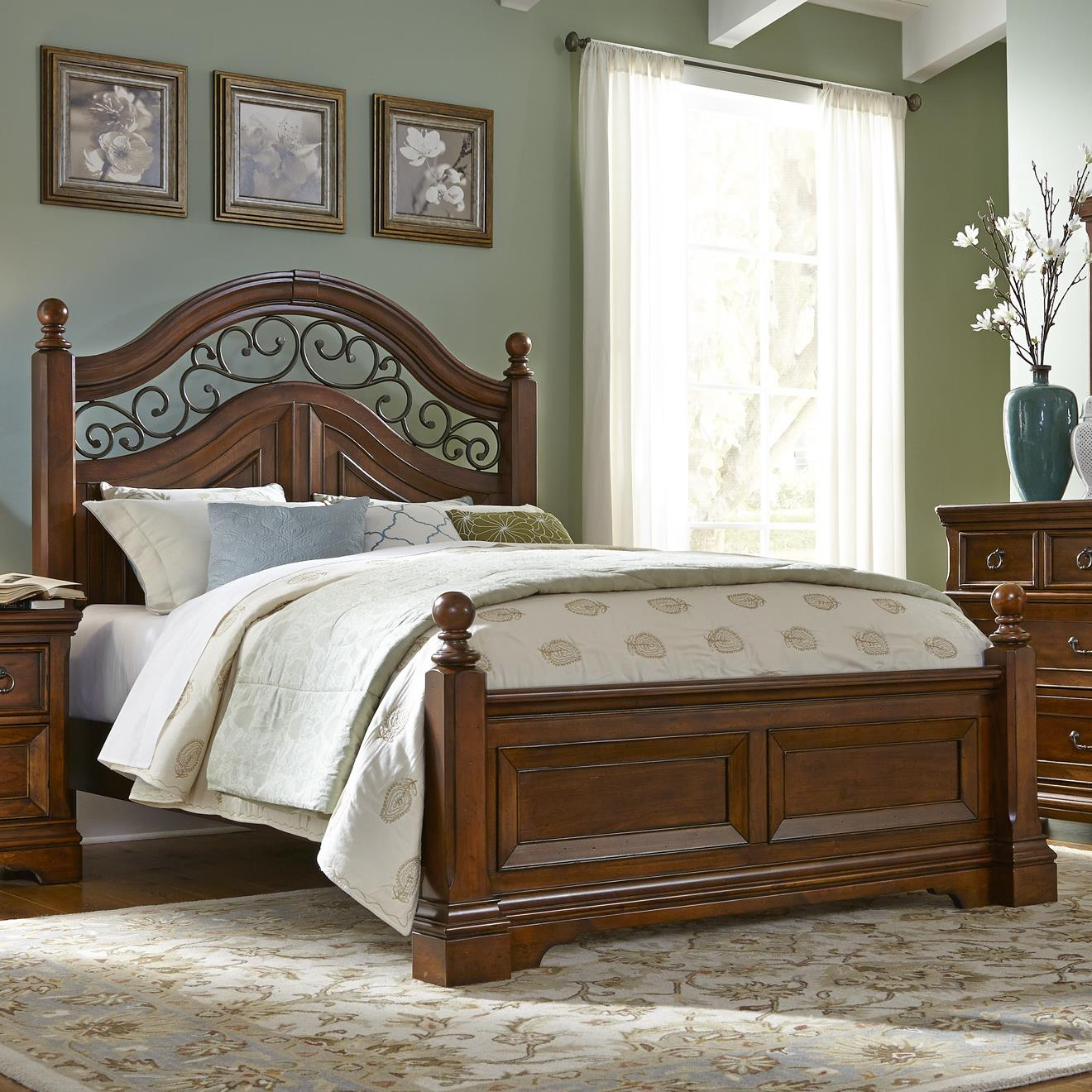 Liberty Furniture Laurelwood King Poster Bed - Item Number: 547-BR03+BR04+BR73