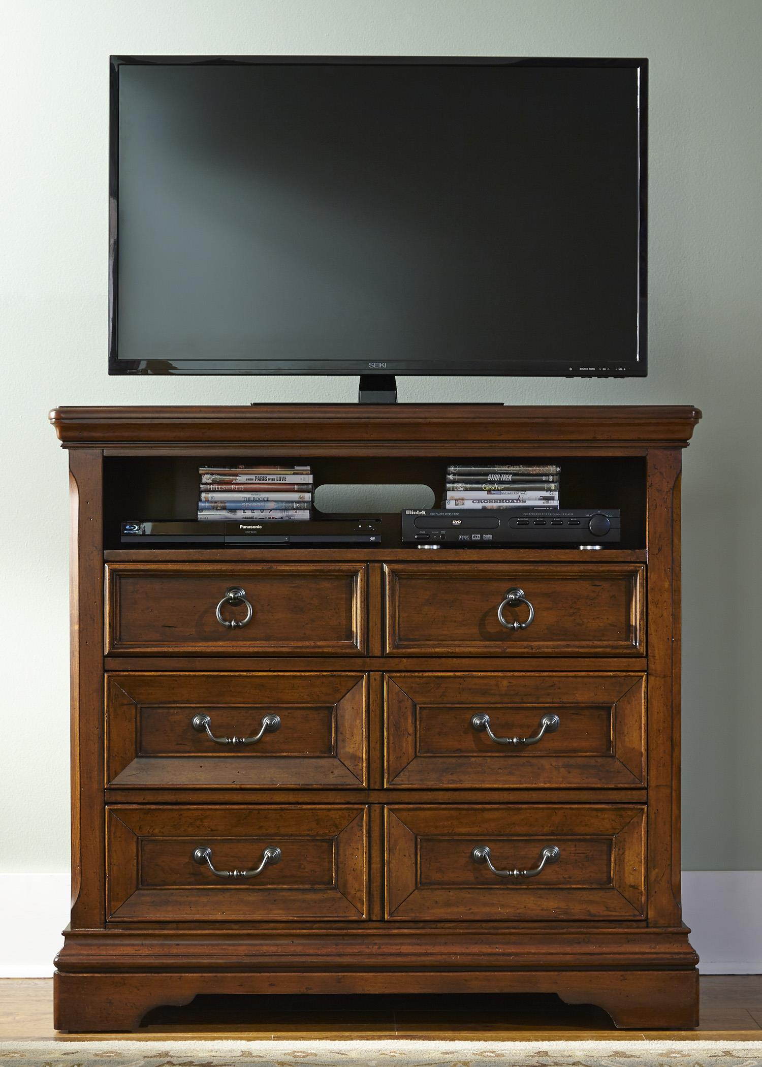 Liberty Furniture Laurelwood Media Chest - Item Number: 547-BR45