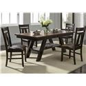 Liberty Furniture CityScape 5-Piece Dining Table & Chair Set - Item Number: 116-CD-5RLS