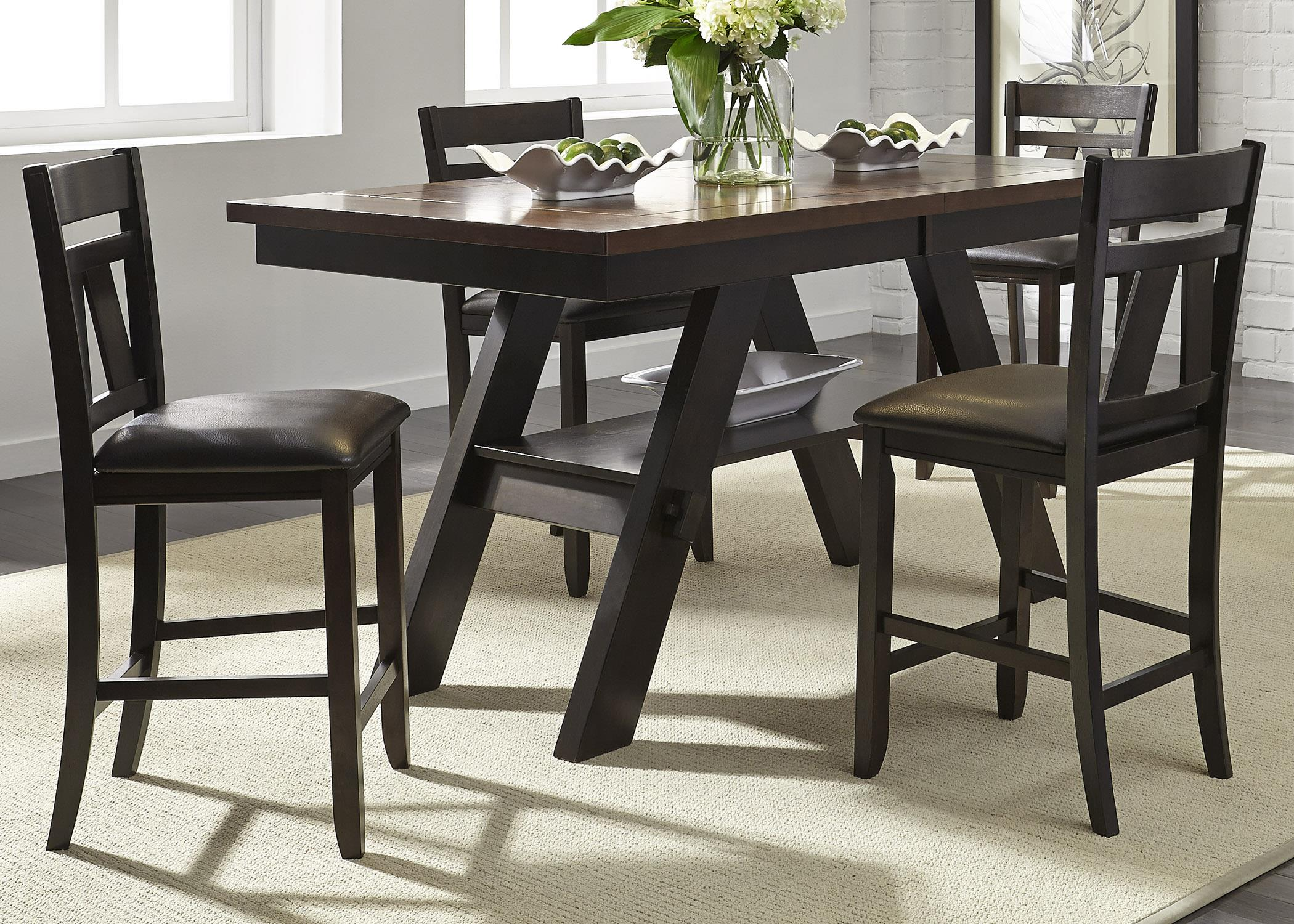 Liberty Furniture Lawson 5 Piece Gathering Table Set - Item Number: 116-CD-SET14