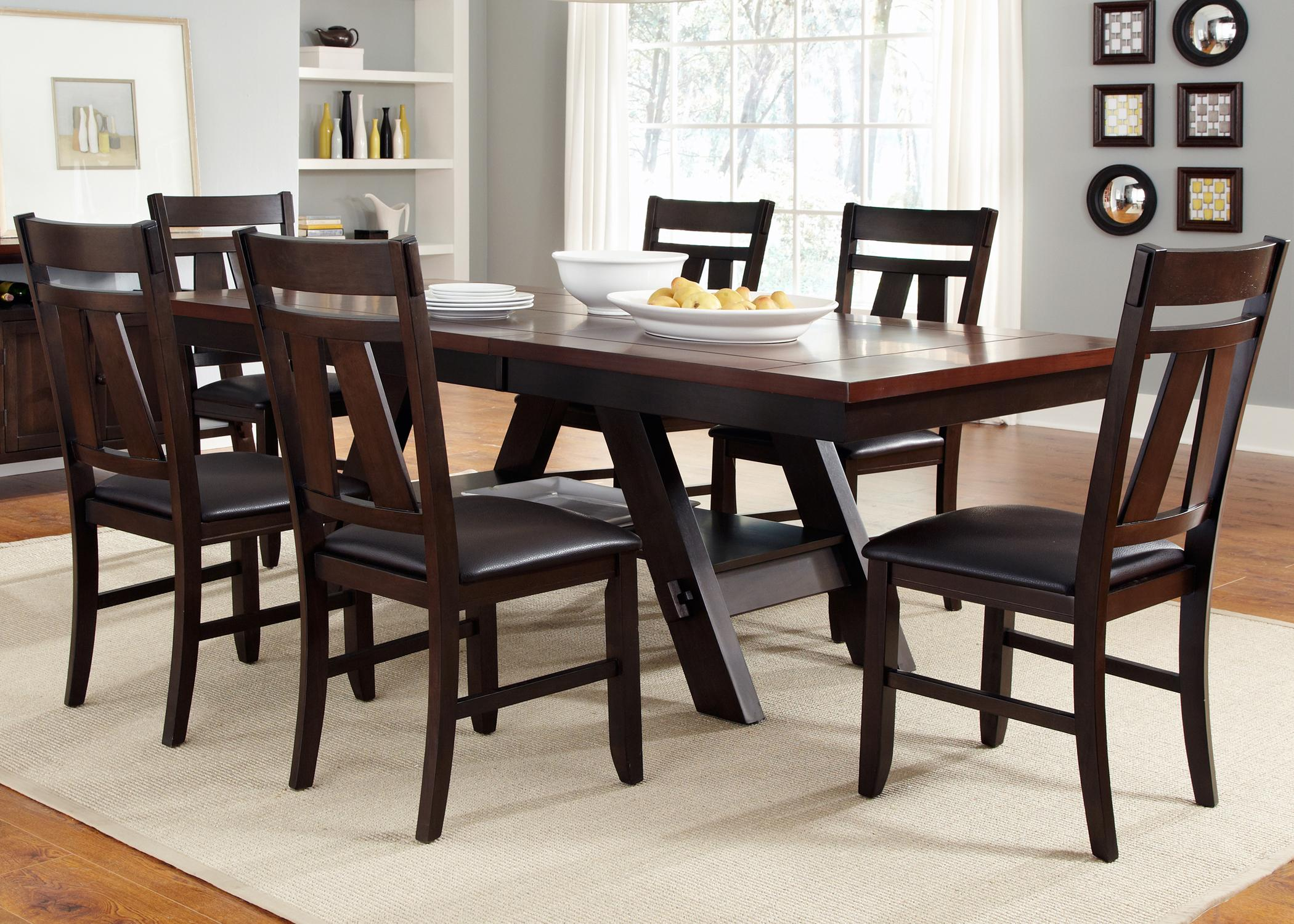 Liberty Furniture Lawson 7 Piece Rectangular Table Set - Item Number: 116-CD-SET32