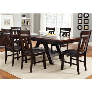 Vendor 5349 Lawson 7 Piece Rectangular Table Set