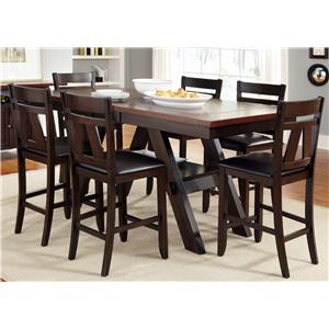 Vendor 5349 Lawson Gathering Table with Counter Height Chairs