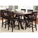 Liberty Furniture Lawson Gathering Table with Counter Height Chairs - Item Number: 116-GT4078B+GT4078+6xB250124