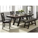 Liberty Furniture Lawson 5 Piece Dining Set - Item Number: 116-P4090+T4090+4x116-C2501S