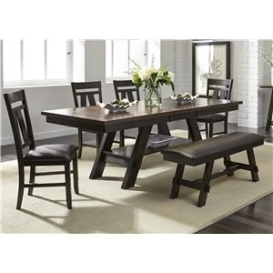 Liberty Furniture Lawson 5 Piece Dining Set Includes Table and 4 Side Chairs | Darvin Furniture | Dining 5 Piece Sets  sc 1 st  Darvin Furniture : dining room table and chairs - lorbestier.org