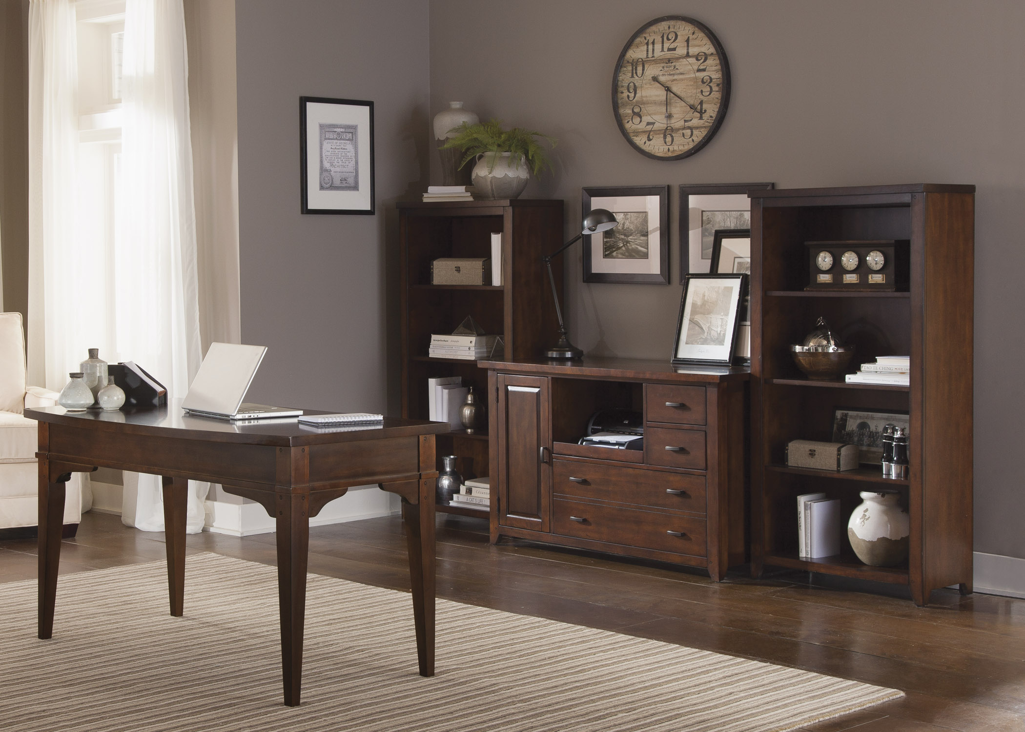 Liberty Furniture Leyton 4 Piece Desk Set  - Item Number: 326-HO-4DS