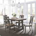 Liberty Furniture Lindsey Farm 5-Piece Trestle Table Set - Item Number: 62-CD-5TRS