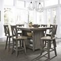 Liberty Furniture Lindsey Farm 7-Piece Gathering Table Set - Item Number: 62-CD-7GTS