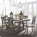 Liberty Furniture Lindsey Farm 7-Piece Trestle Table Set - Item Number: 62-CD-7TRS