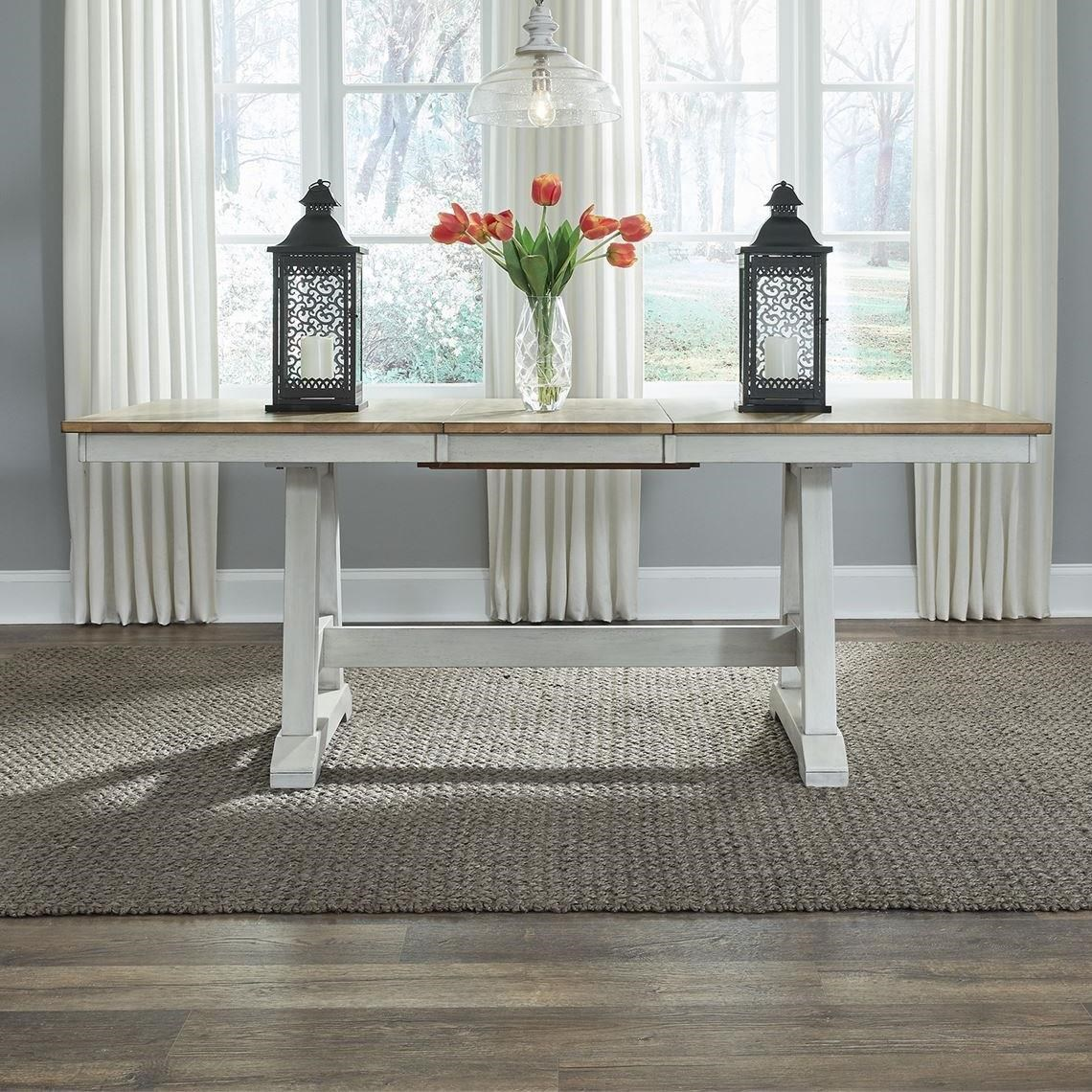 Lindsey Farm Trestle Table by Libby at Walker's Furniture