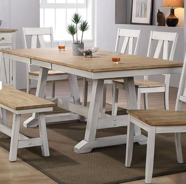 Lindsey Farm Trestle Table by Liberty Furniture at Johnny Janosik