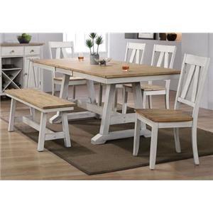 6-Piece Trestle Table Set