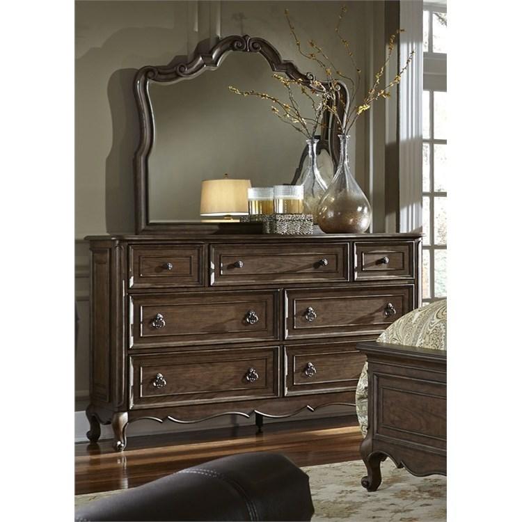 Liberty Furniture Lorraine Dresser & Mirror  - Item Number: 843-BR-DM