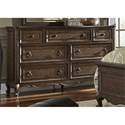 Liberty Furniture Lorraine 7 Drawer Dresser - Item Number: 843-BR31