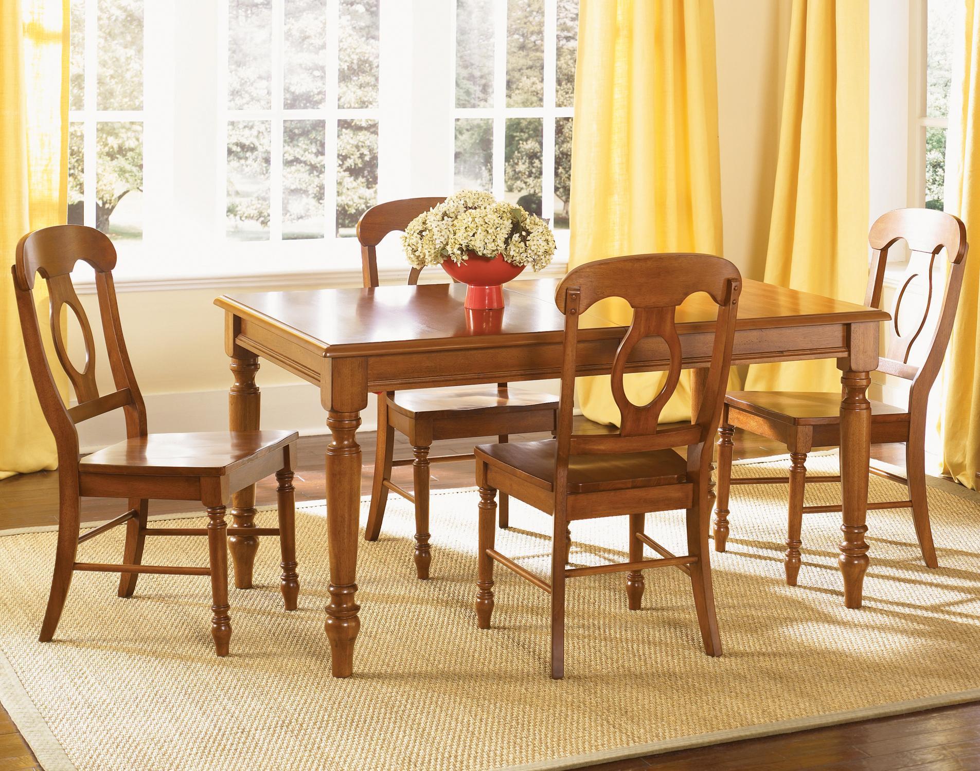 Liberty Furniture Low Country 5 Piece Rectangular Table Set - Item Number: 76-CD-SET419