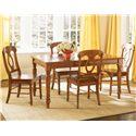 Vendor 5349 Low Country 5 Piece Rectangular Table Set - Item Number: 76-CD-SET419