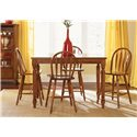 Vendor 5349 Low Country Gathering Table with 18 Inch Butterful Leaf - Gathering Table Shown with Windsor Bar Stools