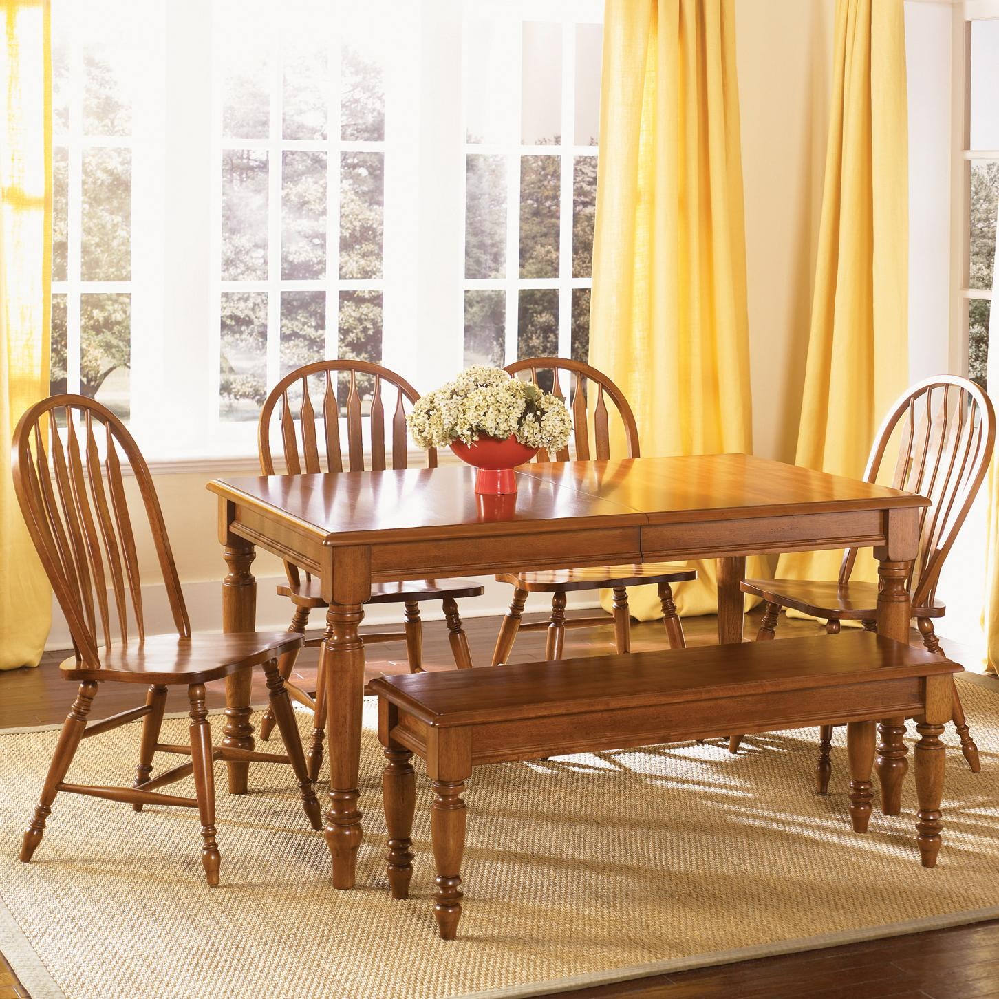 Liberty Furniture Low Country Six Piece Dining Set - Item Number: 76-T3876+4xC1000S+C9000B