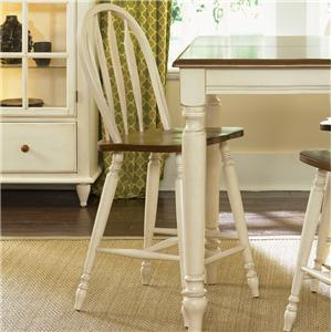 Vendor 5349 Low Country Windsor Back Barstool