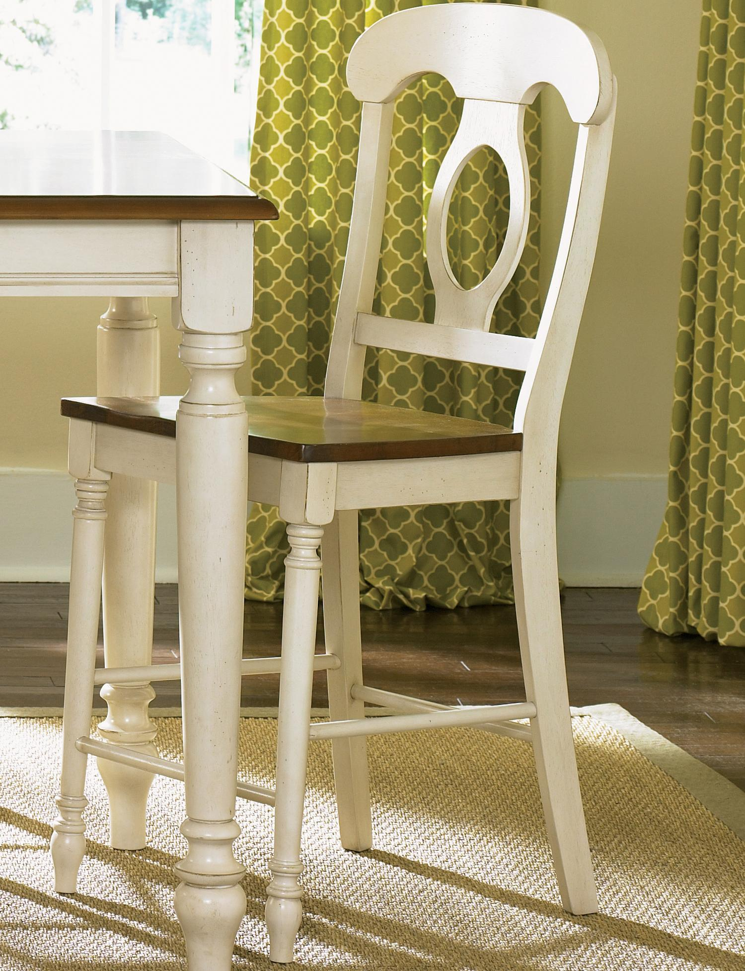 Liberty Furniture Low Country Napoleon Back Barstool - Item Number: 79-B550024