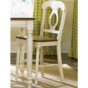Vendor 5349 Low Country Napoleon Back Barstool