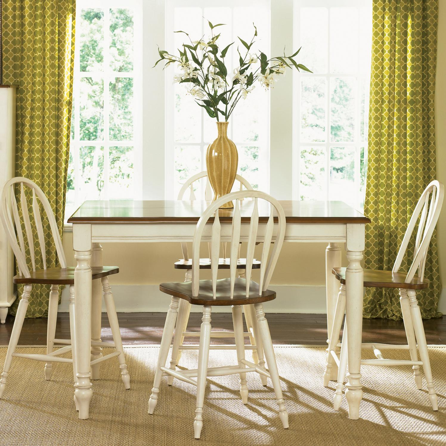 Liberty Furniture Low Country Five Piece Gathering Height Set - Item Number: 79-CD-SET14