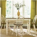 Liberty Furniture Low Country Gathering Table with 18 Inch Butterful Leaf - Gathering Table Shown with Windsor Bar Stools