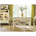 Liberty Furniture Low Country Gathering Table with 18 Inch Butterful Leaf - Gathering Table Shown in Room Setting with Windsor Bar Stools and Curio