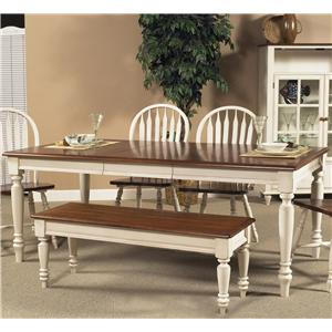 liberty furniture low country rectangular dining table - Low Dining Room Table